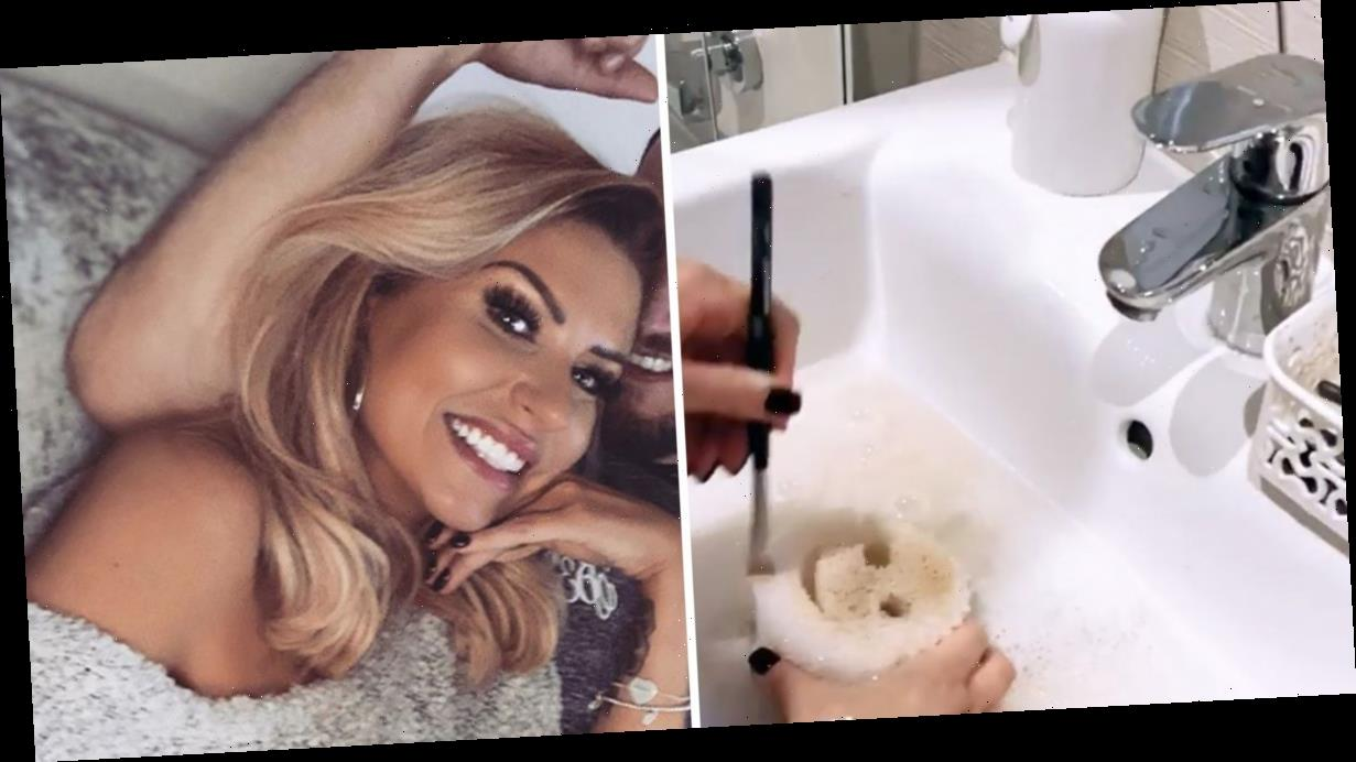 Mrs Hinch shows off incredible £5 makeup brush cleaning hack which removes dirt fast