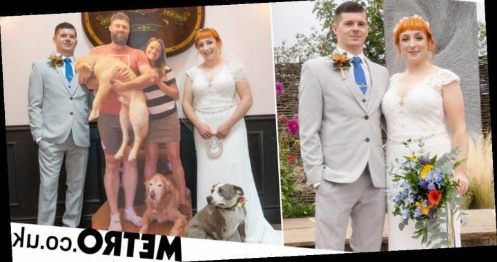 Couple's genius wedding trick for coronavirus times: cardboard cutout guests