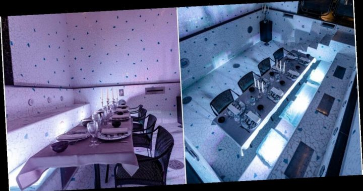 A hotel in Paris is hosting dinners in its drained underground swimming pool