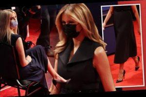 Ivanka Trump copies step-mum Melania's outfit by wearing matching heels at debate