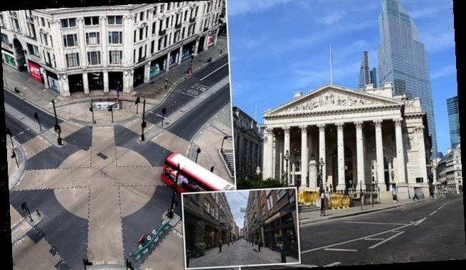 Personal Finance Editor JEFF PRESTRIDGE London street ghost town
