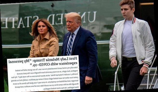 Barron Trump tested positive for COVID, Melania reveals