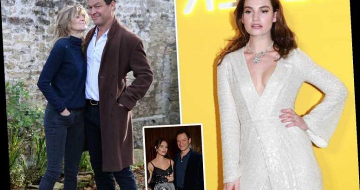 Dominic West's wife calls family crisis talks over the future of her marriage after he was pictured kissing Lily James