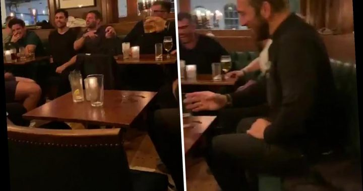 Watch as boozed-up Chris Robshaw and Barbarians Covidiots break coronavirus rules in pub before cancelled England match