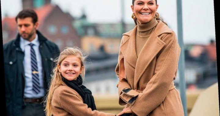 Princess Estelle of Sweden Twins with Mom Princess Victoria in Special Royal Outing with the King