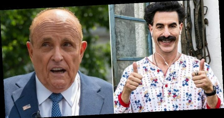 Rudy Giuliani has a cameo in the new 'Borat' movie where he appears to have an inappropriate encounter with a fake female reporter