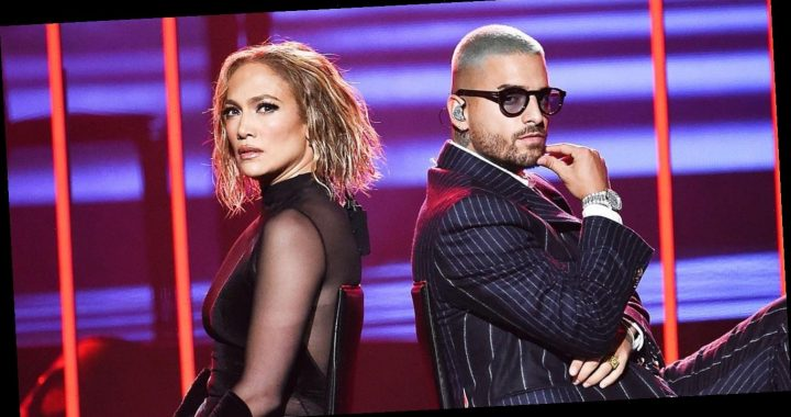 Jennifer Lopez and Maluma Heat Up the Stage at the American Music Awards