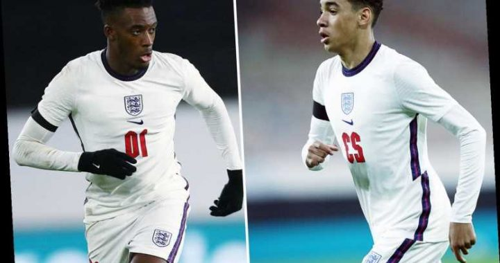 Chelsea starlet Callum Hudson-Odoi begs close pal Jamal Musiala to remain with England after Young Lions debut