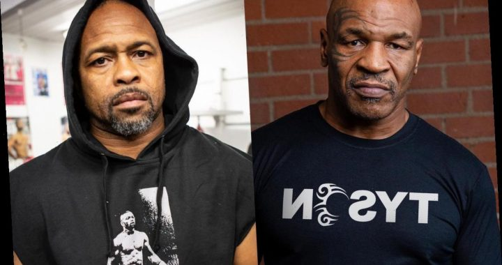 Mike Tyson Gets Yelled at by Crazy Fan After Drawn Match Against Roy Jones Jr.
