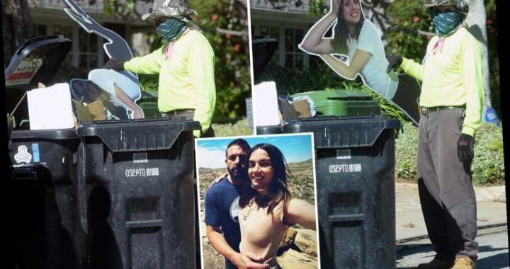 Ben Affleck tosses his Ana de Armas cardboard cutout in the TRASH after she 'dumps him over the phone'