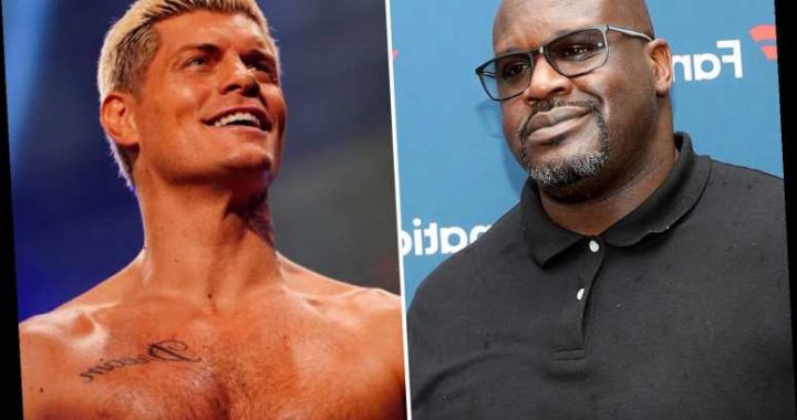 Shaquille O'Neal calls out AEW star Cody Rhodes for match in March as NBA legend blasts 'punk' ex-WWE wrestler