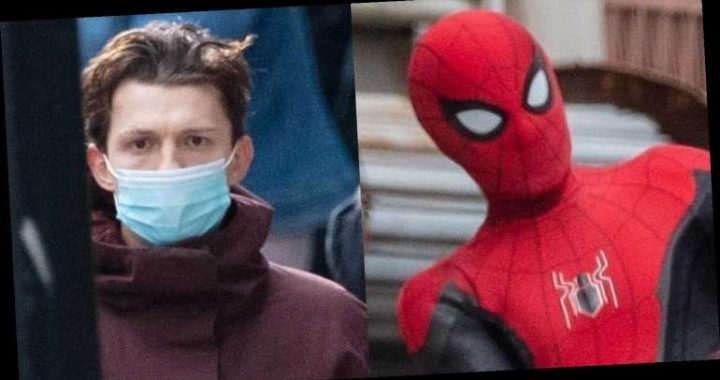 Tom Holland Gets Into Character Filming 'Spider-Man 3′ – See the Set Pics!
