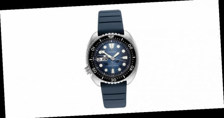 "Seiko Gives Its Prospex Turtle ""Save the Ocean"" a Dark Manta Ray Special Edition"