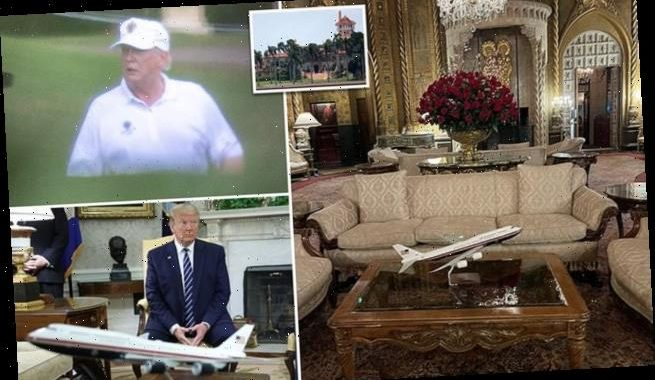 Trump gets brings his model of Air Force One to Mar-a-Lago