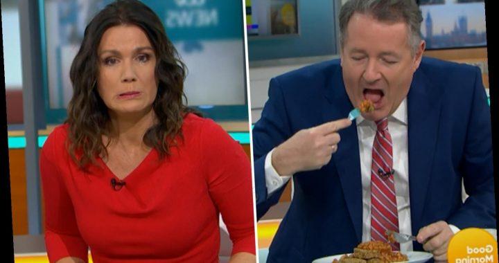 Susanna Reid horrified as Piers Morgan eats baked beans on Weetabix after recipe goes viral