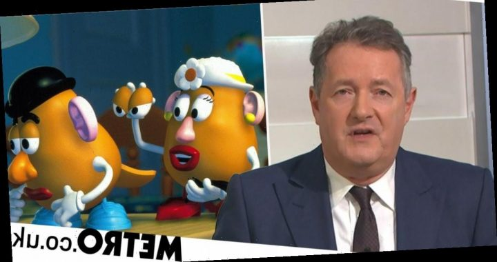 Piers Morgan fuming as Mr and Mrs Potato head 'go gender neutral'
