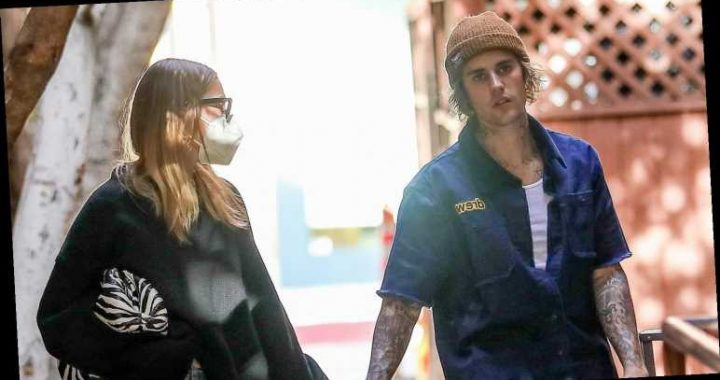 Justin Bieber & Wife Hailey Hold Hands While Running Errands Together