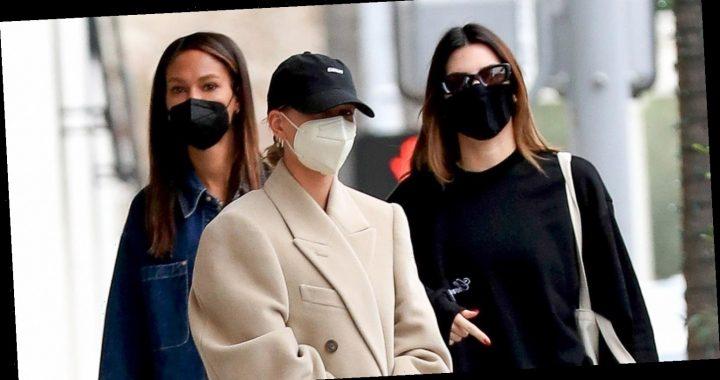 Kendall Jenner, Hailey Bieber, & Joan Smalls Meet Up for Lunch & a Workout