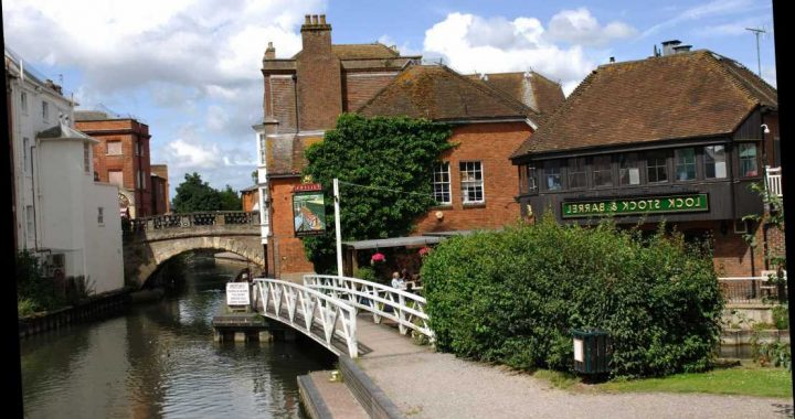 Mum and child, 3, rushed to hospital after falling in canal in Berkshire