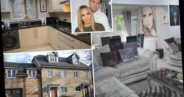 Inside Katie Price's Essex home with Carl Woods as it goes up for sale for £445,000 – complete with huge painting of her
