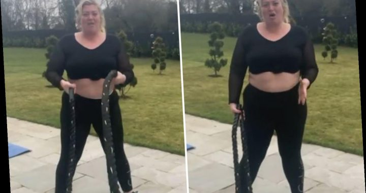 Gemma Collins shows off toned tum after dramatic weight loss saying she's swapped shopping for squat-thrusts