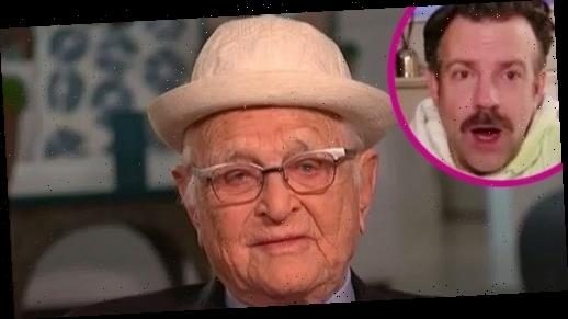'Wow!' Watch Jason Sudeikis Learn That Norman Lear Is Almost 99