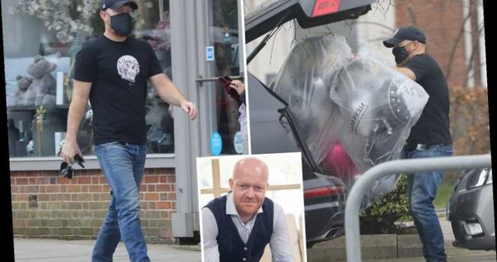Ex-EastEnders star Jake Wood spotted picking up balloons for his daughter Amber's 16th birthday