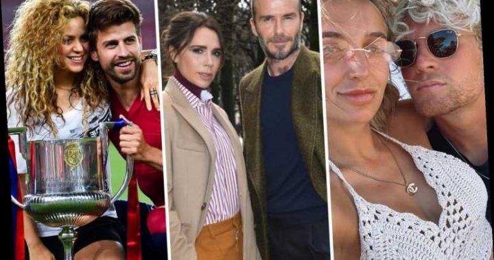 Footballers with more famous Wags from Beckham with Victoria to Pique and Shakira and ex-Chelsea ace with MIC's Tiffany