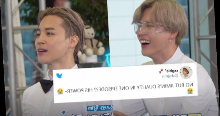 These Tweets About Jimin's Wet Hair On 'Run BTS' Rave About His Duality
