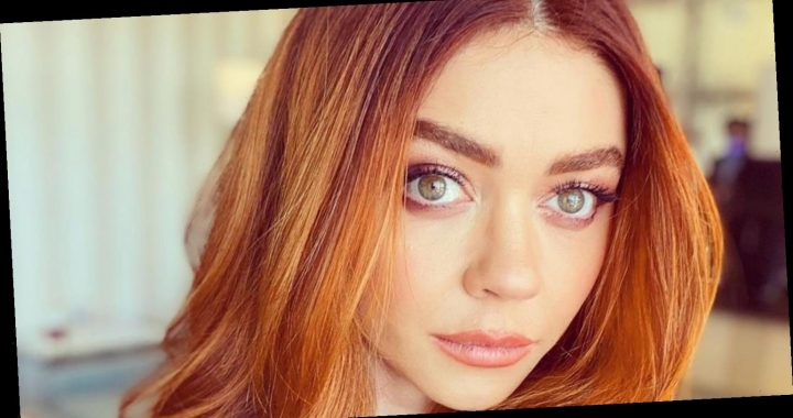 Sarah Hyland Goes Full Red For Golden Globes 2021
