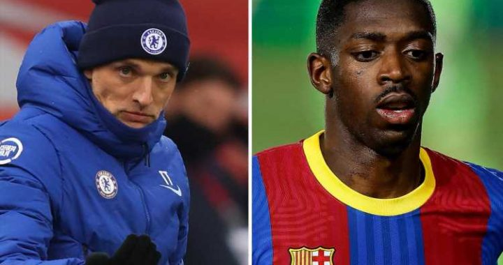 Chelsea transfer target Ousmane Dembele admits Thomas Tuchel is his favourite coach with Barca star's contract expiring
