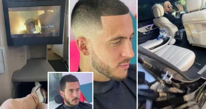 Eden Hazard flies personal barber to Madrid on luxury jet amid strict Covid rules in Spain and England to anger of fans