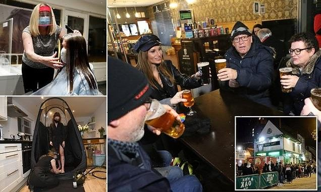 Joy as pubs and shops throw open their doors at last