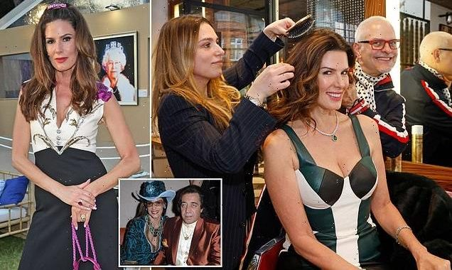 Model who won £75m in divorce gets hair styled by celeb hairdresser