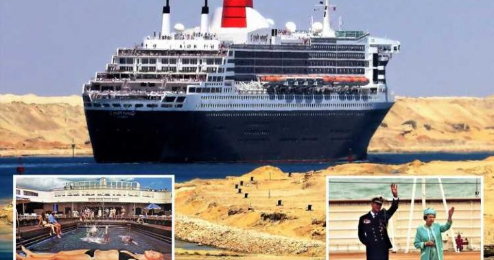 Queen and Prince Philip launch the QE2 transatlantic superliner in fascinating pics as her maiden voyage remembered