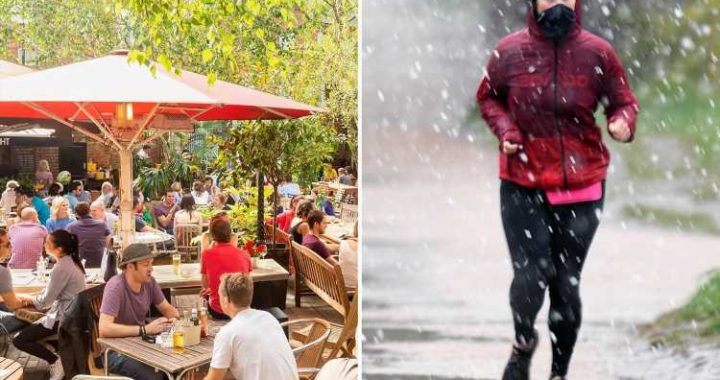 UK weather – Sun will shine for pubs opening tomorrow but today will be a chilly -1C with sleet and snow