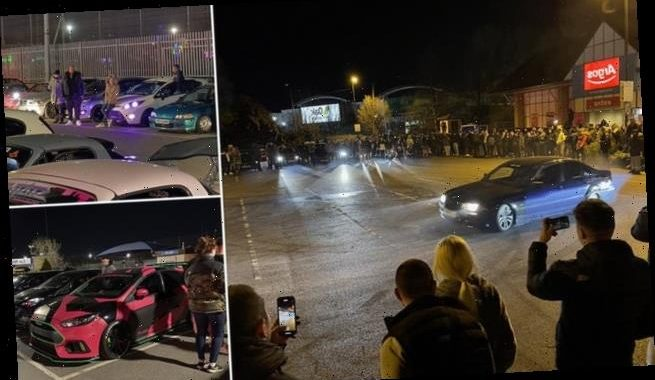 Hundreds of boy racers flout Covid rules at car meets in London