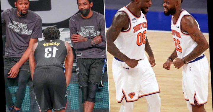 Knicks' Julius Randle, Reggie Bullock send message to Nets' Big 3
