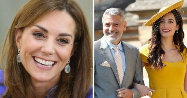George Clooney's wife Amal channelled Kate Middleton on wedding day