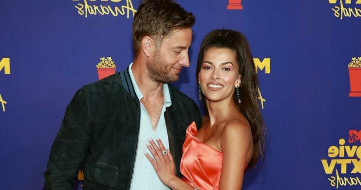 Justin Hartley and Sofia Pernas Wear Matching Rings at MTV Awards