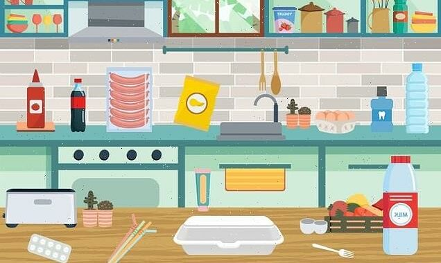 Can YOU find 12 recyclable objects in the kitchen?