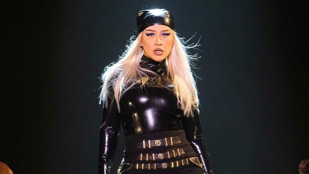 Christina Aguilera Channels Catwoman In Sexy Latex Jumpsuit For Las Vegas Performance