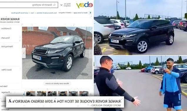 City kit man puts Aguero's Range Rover on eBay after winning raffle