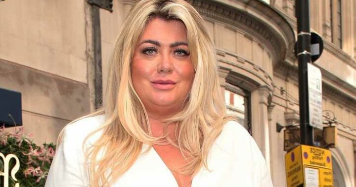 Gemma Collins snuggles up to male pal in the street after wild boozy brunch as she shows off weight loss