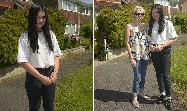 Girl, 14, is put into isolation at school for too-tight trousers