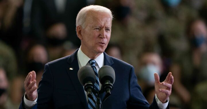 Joe Biden calls the Royal Air Force the 'RFA' in major blunder during first ever speech on British soil