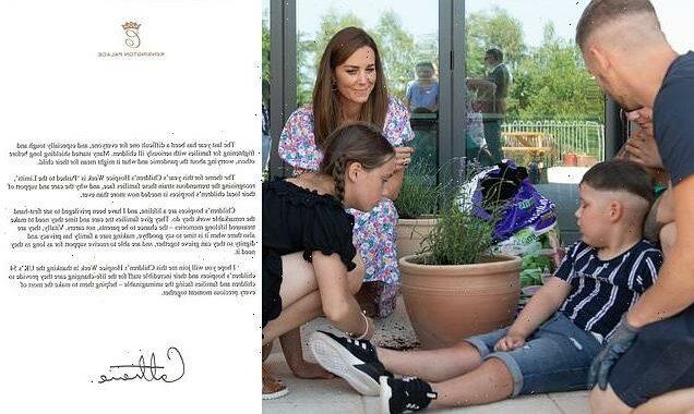 Kate Middleton praises work of children's hospices in open letter