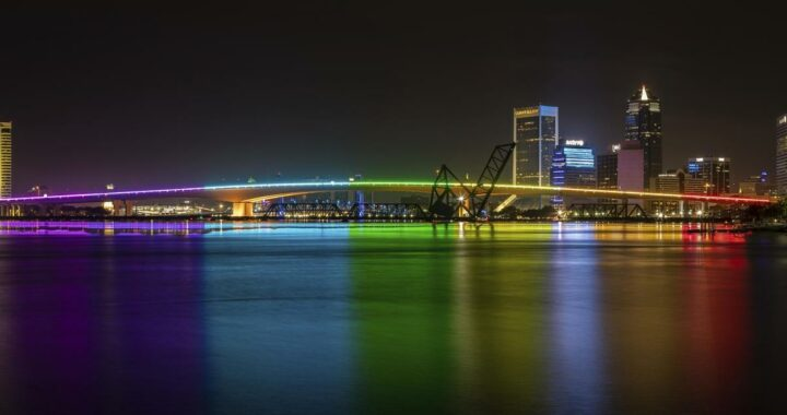 Rainbow lights on a Florida bridge were abruptly turned off. Now, the Pride Month display is back on.