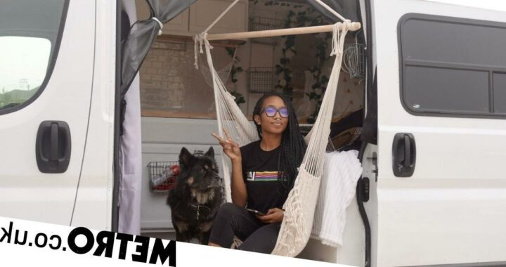 Woman who earns over £220,000 a year chooses to live in a van