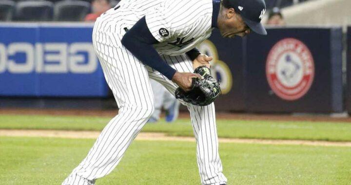 Yankees' Aroldis Chapman throws temper tantrum after imploding